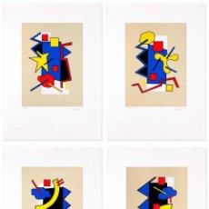 Arte: LOTE 4 SERIGRAFÍAS FIRMADAS. PRUEBAS DE AUTOR. FINALES AÑOS 80 . Lote 193046737