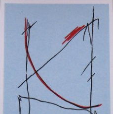 Arte: CARLOS SORIANO. SERIGRAFÍA RITMOS. FIRMADA A MANO Y NUMERADA. 7/180. 1988. 33X25 CM.. Lote 193115068