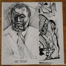 Arte: SERIGRAFIA ART TATUM. ROSTROS DE JAZZ NEGRO. RAUL CAPITANI. 32X32 CM CERRADO. 50X32 CM ABIERTO. . Lote 193916147