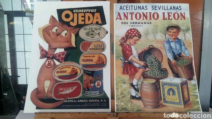 CARTELES ESPAÑOLES ALIMENTACION . PAREJA DE LAMINAS TIPO LITOGRAFIA LISTAS PARA ENMARCAR (Arte - Serigrafías )