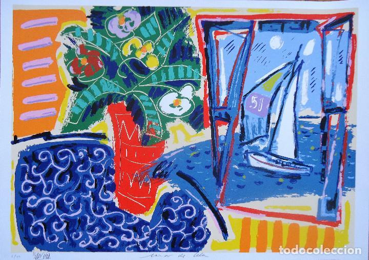 GALICIA.PONTEVEDRA.FORCAREI. SERIGRAFIA 6/99 'MAR DE CELA' 50X70CM. JOSE MARIA BARREIRO (Arte - Serigrafías )