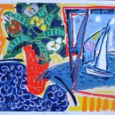 Arte: GALICIA.PONTEVEDRA.FORCAREI. SERIGRAFIA 6/99 'MAR DE CELA' 50X70CM. JOSE MARIA BARREIRO. Lote 194131536