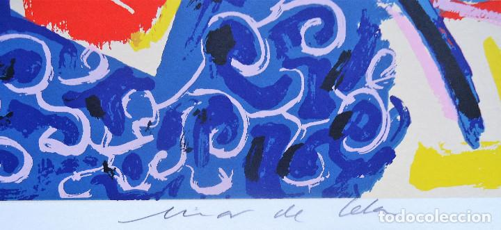 Arte: GALICIA.PONTEVEDRA.FORCAREI. SERIGRAFIA 6/99 MAR DE CELA 50X70CM. JOSE MARIA BARREIRO - Foto 3 - 194131536