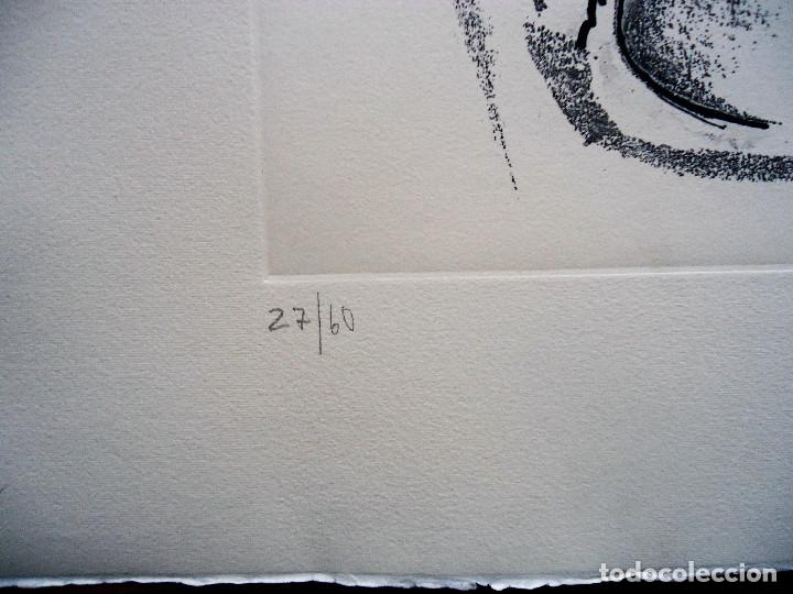 Arte: GALICIA.OURENSE.ACISCLO MANZANO. GRABADO 27/60 MEDIDAS 53X70CM. - Foto 2 - 194133743