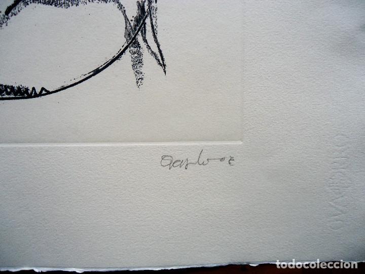 Arte: GALICIA.OURENSE.ACISCLO MANZANO. GRABADO 27/60 MEDIDAS 53X70CM. - Foto 3 - 194133743