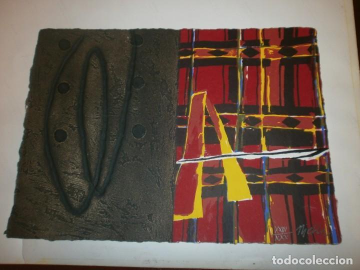 JOSEP NIEBLA GRABADO SERIGRAFÍA - AFRICA - FIRMADO Y NUMERADO 23/30 MEDIDA 30 X 21,5 CM. (Arte - Serigrafías )
