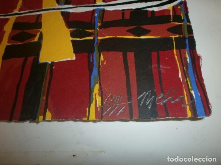 Arte: Josep Niebla grabado serigrafía - Africa - firmado y numerado 23/30 medida 30 X 21,5 cm. - Foto 2 - 194389733