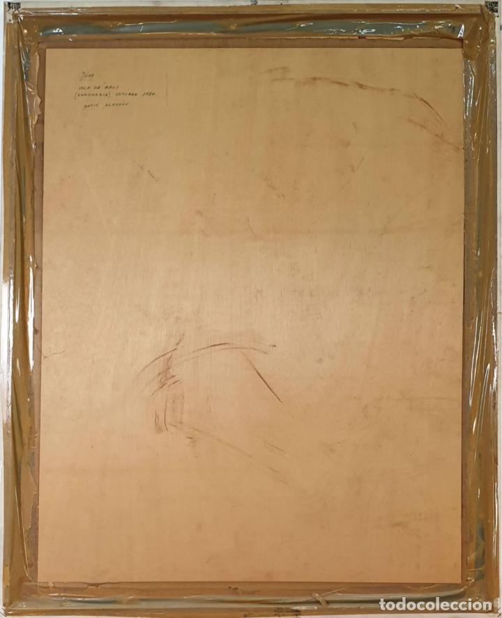 Arte: PAREJA DE CACATUAS. BATIK SOBRE ALGODÓN. INDONESIA. 1984. - Foto 4 - 165601266