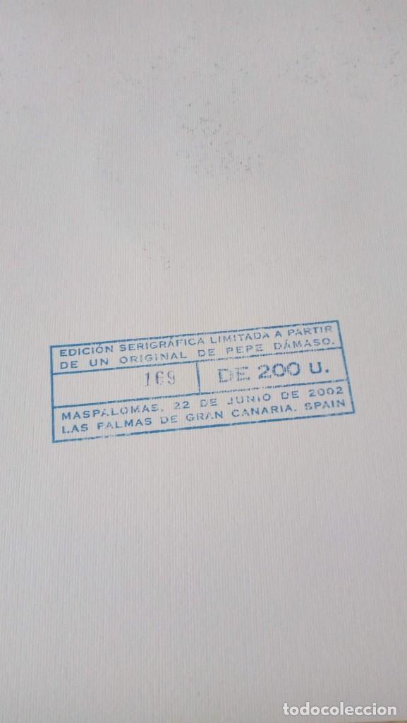 Arte: Pepe Dámaso Edición Serigráfica Numerada limitada y firmada 2002 - Foto 4 - 194690831