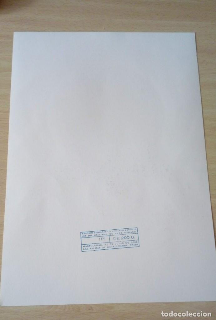 Arte: Pepe Dámaso Edición Serigráfica Numerada limitada y firmada 2002 - Foto 5 - 194690831