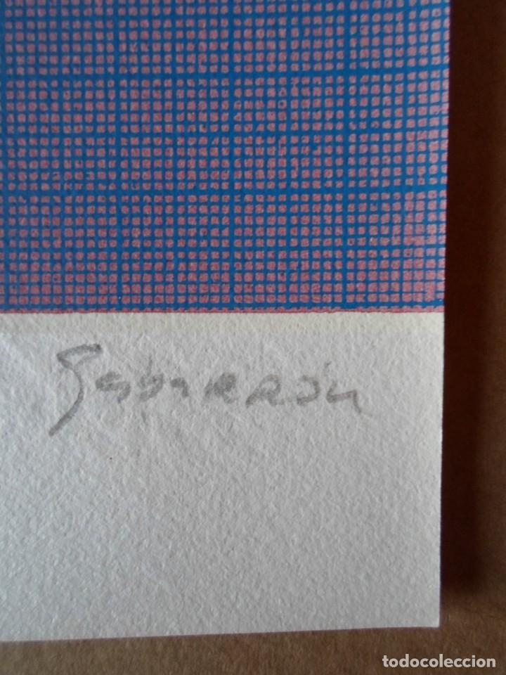 Arte: Cristóbal GABARRON (Mula, Murcia, 1945) serigrafía de 50x68, firmada a lápiz y numerada de solo /65 - Foto 2 - 194784615