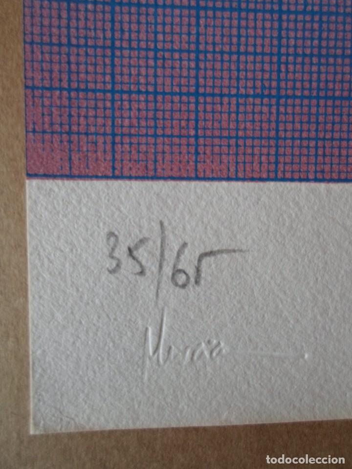 Arte: Cristóbal GABARRON (Mula, Murcia, 1945) serigrafía de 50x68, firmada a lápiz y numerada de solo /65 - Foto 3 - 194784615