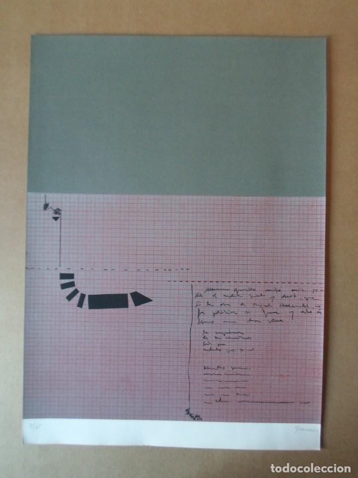 Arte: Cristóbal GABARRON (Mula, Murcia, 1945) serigrafía de 50x68, firmada a lápiz y numerada de solo /65 - Foto 4 - 194784671