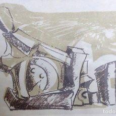 Arte: SERIGRAFÍA DEL BOCETO DE LA ESCULTURA DE PÉREZ DE COSSIO. Lote 195309428