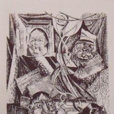 Arte: ROBERTO VIVES SAURÍ. SERIGRAFÍA MÁSCARAS. FIRMADA A MANO Y NUMERADA 90/180. 1988. 33X25 CM.. Lote 196154220
