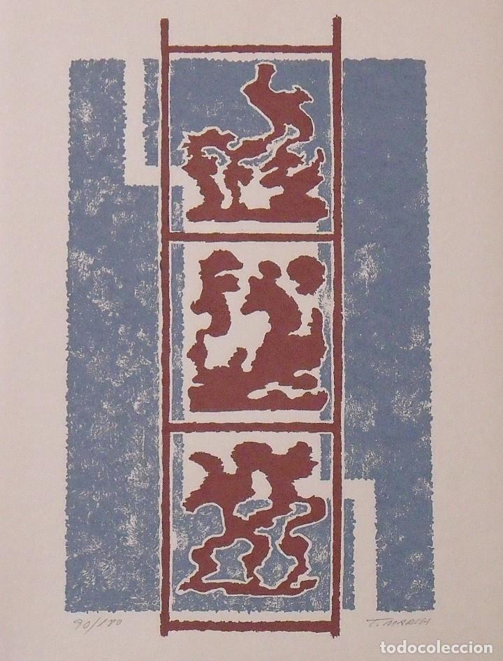 MARIA TERESA MARCH. SERIGRAFÍA ABSTRACTO. FIRMADA A MANO Y NUMERADA 90/180. 1988. 33X25 CM. (Arte - Serigrafías )