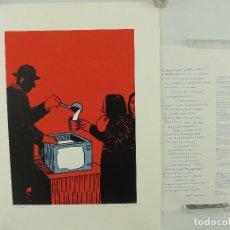 Art: SERIGRAFIA ORIGINAL DE ANDRES RABADO-EL ROTO LA SOPA BOBA NUMERADA NUMERO 49 DE 130. Lote 196254578
