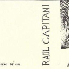 Arte: MUSEU ENRIC MONJO. VILASSAR DE MAR. 30 AÑOS DE GRABADO DE RAUL CAPITANI. 1996. BUEN ESTADO. . Lote 196886347