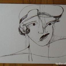 Arte: DAMA CON SOMBRERO CLOCHÉ. FLAPPER. GARÇONNE. BUEN ESTADO. 25X33 CM. SIN FIRMAR NI NUMERAR. . Lote 196895082