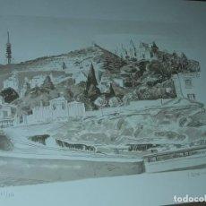 Arte: SERIGRAFÍA O LITOGRAFÍA TIBIDABO Y P.DE GRACIA SERIE 107/150 FIRMADA J. SERRA I LLIMONA. Lote 196984488