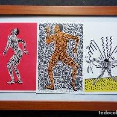 Arte: 3 TARJETAS PARA EXPOSICIÓN KEITH HARING , 'INTO 84' EN LA GALERÍA TONY SHAFRAZI, NUEVA YORK, 1983. Lote 198259386