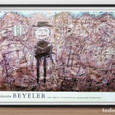 Arte: CARTEL DE - JEAN DE BUFFET - EL VIAJERO ESTRAVIADO - DEL MUSEO ARTE REINA SOFIA - EDCION 1989 -TAMAÑ. Lote 198493352