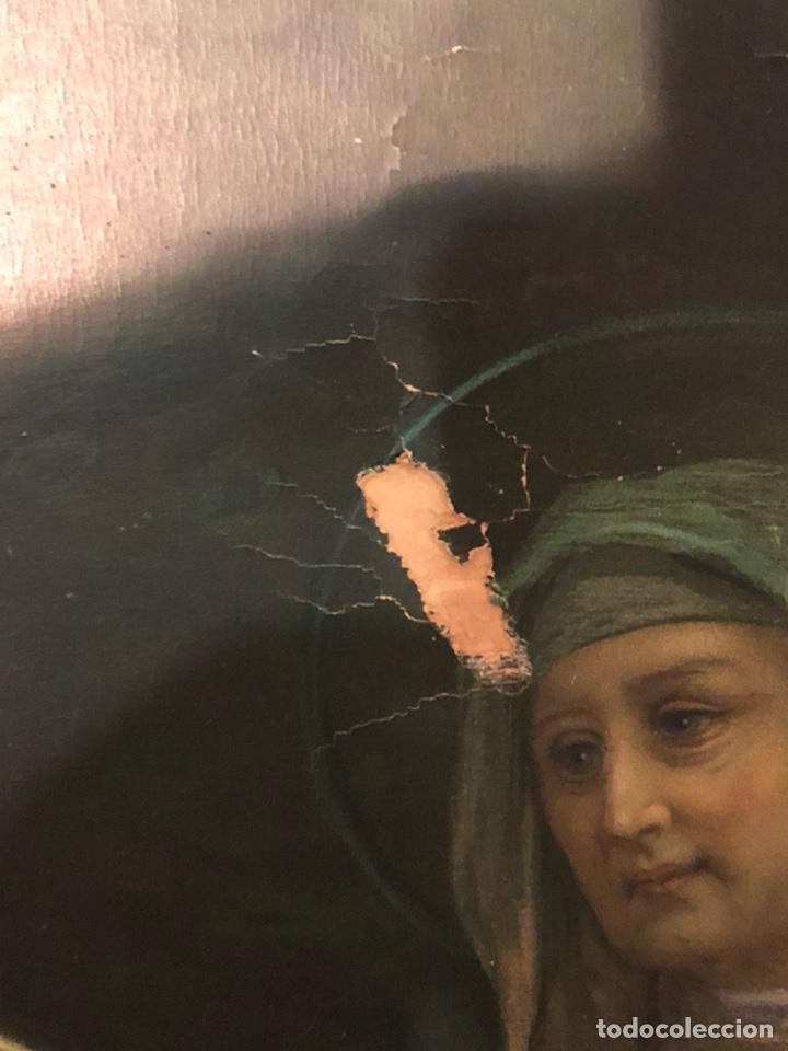 Arte: Bonita lámina serigrafiada, para restaurar, marco de gran tamaño aprovechable, en buen estado - Foto 8 - 199873962