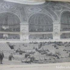 Arte: PARIS ANFITEATRO DE LA SORBONA SERIGRAFIA 1889. Lote 200133078