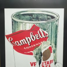 Art: ANDY WARHOL BIG TORN CAMPBELL'S SOUP CAN. Lote 200344337