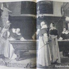Arte: ANIMO COMPAÑEROS BILLAR SERIGRAFIA 1885. Lote 200571116