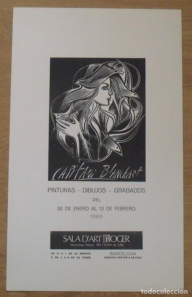 SERIGRAFÍA CAPITANI BLANCHART. 1980. SALA D'ART ROGER. BARCELONA. BUEN ESTADO. 45X27 CM. (Arte - Serigrafías )