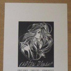 Arte: SERIGRAFÍA CAPITANI BLANCHART. 1980. SALA D'ART ROGER. BARCELONA. BUEN ESTADO. 45X27 CM.. Lote 203926106