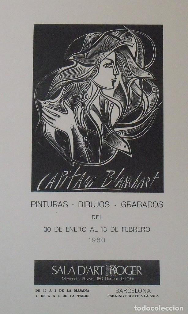 Arte: Serigrafía Capitani Blanchart. 1980. Sala dart Roger. Barcelona. Buen estado. 45x27 cm. - Foto 2 - 203926106