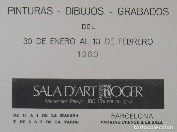 Arte: Serigrafía Capitani Blanchart. 1980. Sala dart Roger. Barcelona. Buen estado. 45x27 cm. - Foto 4 - 203926106