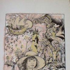 Arte: SERIGAFIA SALA JAIMES. NIÑA MUNDO DE FANTASÍA. 1990. RAUL CAPITANI. 70X51 CM. PAPEL GUARRO CALIDAD.. Lote 203990931