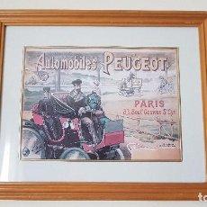 Arte: CUADRO, AUTOMOBILES PEUGEOT, PARIS, TAL CUAL SE VE.. Lote 203991460