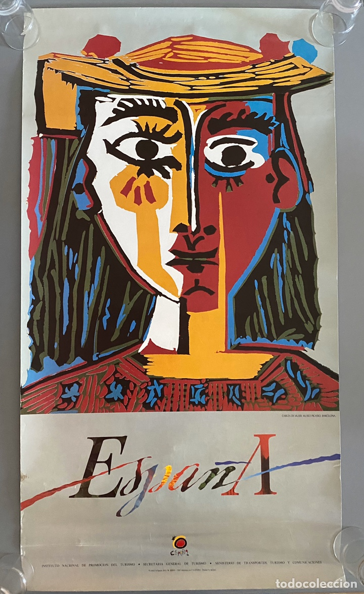 PICASSO TURISMO ESPAÑA CARTEL 1985 (Arte - Serigrafías )