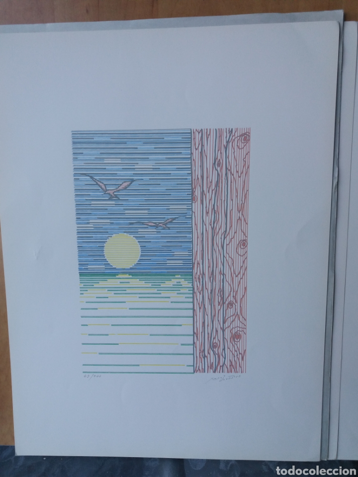 Arte: Cuatro láminas serigrafía firmadas por el autor y numeradas - Foto 4 - 205052887