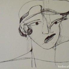 Arte: DAMA CON SOMBRERO. CABELLO A LO GARÇONNE. FLAPPER. SERIGRAFÍA. SIN FIRMAR. 25X32 CM.. Lote 205246505