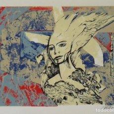 Arte: RAUL CAPITANI. SERIGRAFÍA FIGURA. FIRMADA A MANO Y NUMERADA 18/150. 1988. 25X33 CM.. Lote 205246765