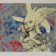 Arte: RAUL CAPITANI. SERIGRAFÍA FIGURA. FIRMADA A MANO Y NUMERADA 77/150. 1988. 25X33 CM.. Lote 205246892