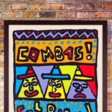 Arte: BONITO CARTEL -TROIS PERSONNAGES -SILKSCREEN- POR- ROBERT COMBAS -TAMAÑO 33 X 44 CMS. Lote 205465142