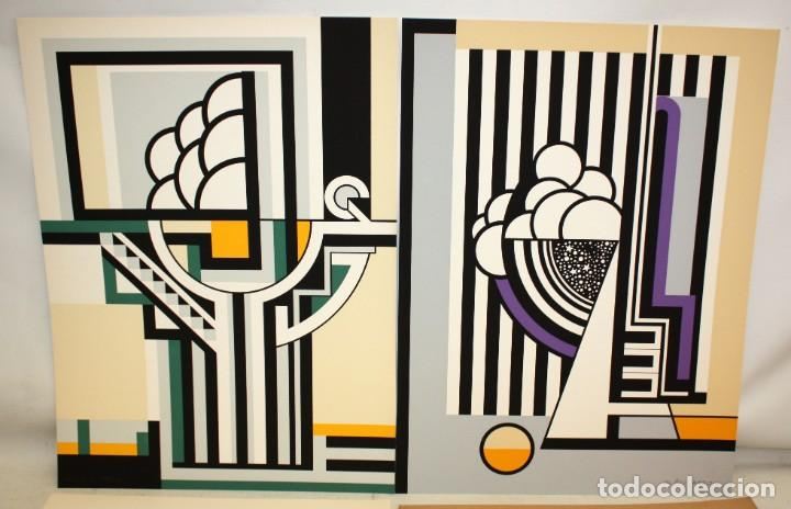 JOSE IRANZO ALMONACID -ANZO- (UTIEL, VALENCIA, 1931 - 2006) PAREJA DE SERIGRAFÍAS. TIRAJE: 194/220 (Arte - Serigrafías )