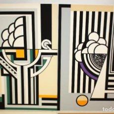 Arte: JOSE IRANZO ALMONACID -ANZO- (UTIEL, VALENCIA, 1931 - 2006) PAREJA DE SERIGRAFÍAS. TIRAJE: 194/220. Lote 205688852