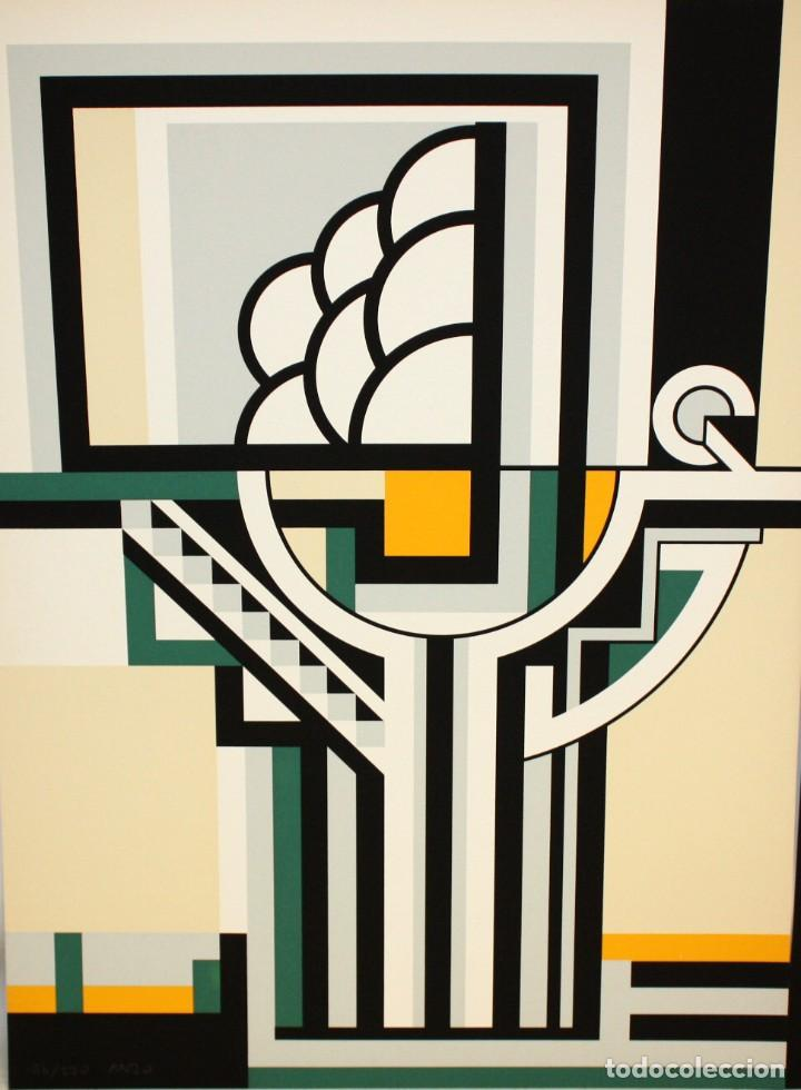 Arte: JOSE IRANZO ALMONACID -anzo- (Utiel, Valencia, 1931 - 2006) PAREJA DE SERIGRAFÍAS. TIRAJE: 194/220 - Foto 3 - 205688852