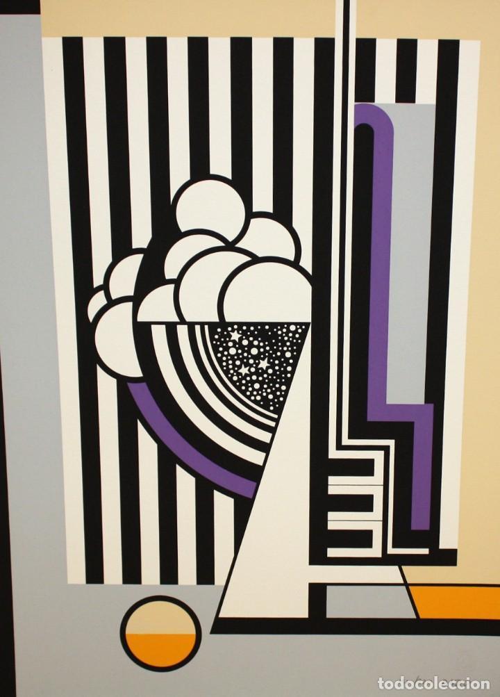 Arte: JOSE IRANZO ALMONACID -anzo- (Utiel, Valencia, 1931 - 2006) PAREJA DE SERIGRAFÍAS. TIRAJE: 194/220 - Foto 5 - 205688852