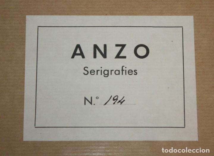 Arte: JOSE IRANZO ALMONACID -anzo- (Utiel, Valencia, 1931 - 2006) PAREJA DE SERIGRAFÍAS. TIRAJE: 194/220 - Foto 7 - 205688852