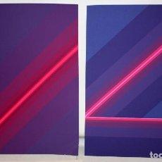 Arte: JOSE MARIA YTURRALDE (VALENCIA, 1942) PAREJA DE SERIGRAFIAS ORIGINALES DEL AÑO 1985. 185/220. Lote 205689420