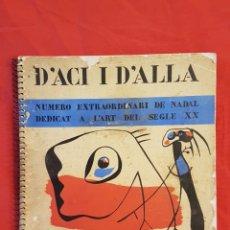 Arte: D'ACI I DE ALLA ,HIVERN 1934 ,REVISTA DE VANGUARDIAS EUROPEAS VOL. XXII. Lote 206517061