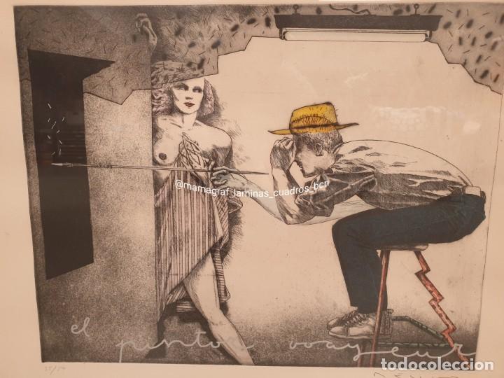 Arte: SERIGRAFIA. EL PINTOR. MAMAGRAF - Foto 4 - 206784115